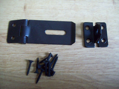 10 X 3 Black Safety Hasp Amp And Staple Sheds Hutch Gates