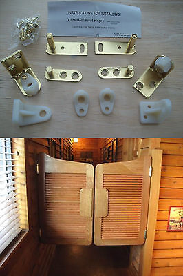 2 X Brass Swing Saloon Door Hinge Cafe Bar Pub Gravity