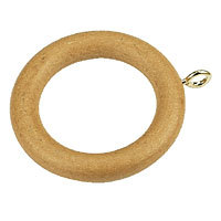 20 X Beech Wood Wooden Curtain Rings 35mm New