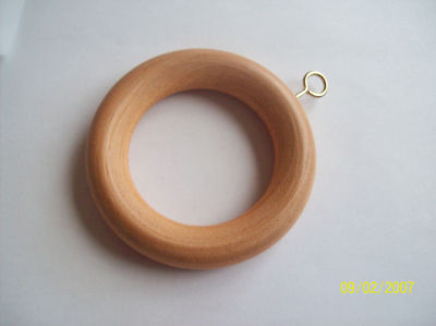 20 X Beech Wood Wooden Curtain Rings In 3 Sizes 19 35mm