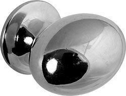 POLISHED CHROME OVAL CABINET CUPBOARD DRAWER KITCHEN DOOR KNOB PULL ...