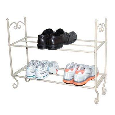 Metal shabby chic vintage french style storage shoe shoes rack Stylish shoe rack