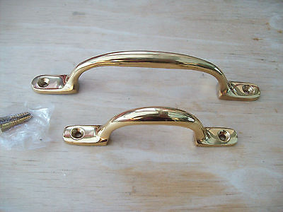 Solid Brass Window Cupboard Drawer Bow D Sash Pull Lift
