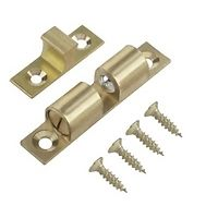 SOLID BRASS ADJUSTABLE DOUBLE BALL CATCH LATCH 42 +50MM