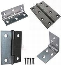 2 X Steel Door Butt Hinges In 4 Sizes With Screws
