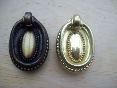 antique brass drawer cupboard cabinet oval ring pull handles