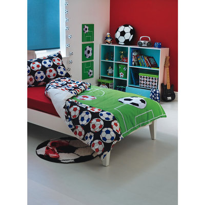 Boys Kids Footy Football Bedroom Duvet Bedding Set