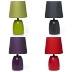 Red Black/grey Plum Green Ceramic Table Lamps