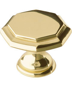 Solid Brass Cupboard Cabinet Drawer Octagonal Knobs Pull Handles